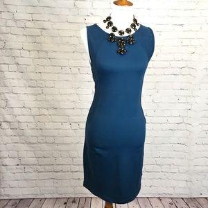 Three Dots high neck stretchy sleeveless dress